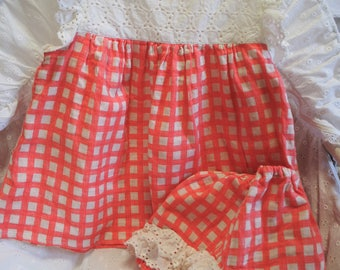 Baby summer dress and Bloomer set