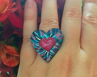 Heart Within Hearts Ring