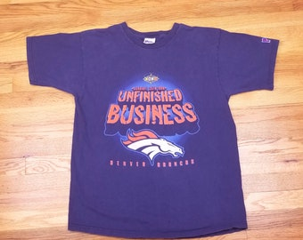 Vintage 90s Denver Broncos Unfinished Business Super Bowl XXXII Champs Size Large