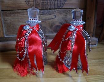 Duo of Red Royal perfume bottles