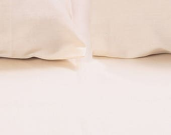 """Bedding-100%Organic 400TC with Queen Size Bedsheet (92""""x102""""),fitted sheed &Two pillowcases(20""""x30"""") - available only in Europe"""