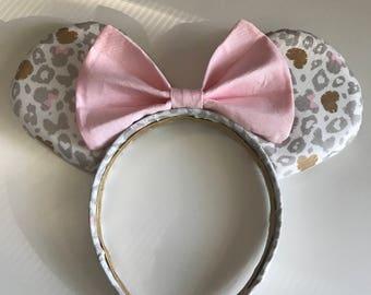 Hand made Cheetah Minnie ears