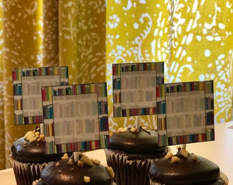 PRINTABLES - Colorful Library and Book cupcake toppers or labels!