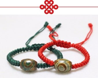 Lucky Red Rope String Tibetan Buddhist Handmade Knots Lovers Charms Bracelets