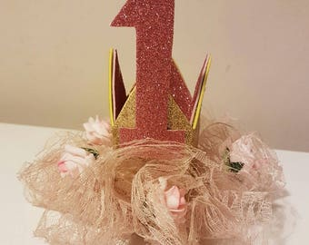 Lace Ruffle Baby Crown