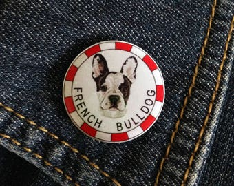 French Bulldog Dog Breed Pin Button Badge 1inch/25mm