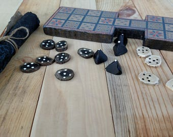 Royal Game of Ur Wood Ancient Board Game Board Game Family Game