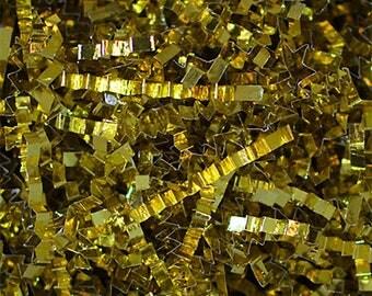 Metallic Crinkle Gold , Metallic Crinkle  Gift Basket Shred, Crinkle Paper ,Filler paper, Basket Filler , Cut Paper Shred, Eco Friendly