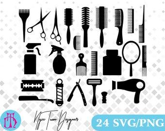 Barber svg,scissors svg,Hairdresser svg,comb svg,mirror svg,png for Print,Design,Silhouette,Cricut and any more