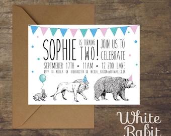 Printable Circus Animal Parade Invitation
