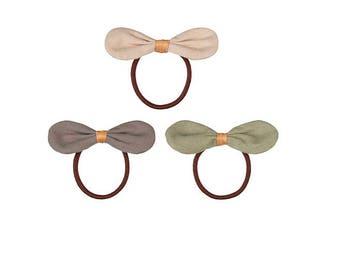 Bow Ponies - Hair Ties - Girls Hair Bow Elastics Pack of 3