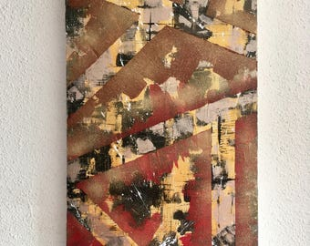 Abstract urban painting abstract urban 40 * 80cm