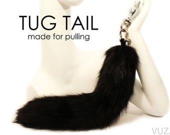 tail butt plug - fox tail butt plug - EXCLUSIVE TUG TAIL - butt plug – bdsm - tail plug - sex toys - fox tail plug– butt plug tail – mature
