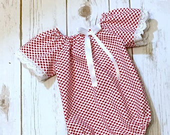 Sitter Romper, Valentines Day, Red Romper, Sitter Prop, Sitter Photo Prop