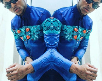 African Wax Print Shirt,African clothing, African mens shirt, African Mens Wear, African Wax Print, African Shop, African dashiki