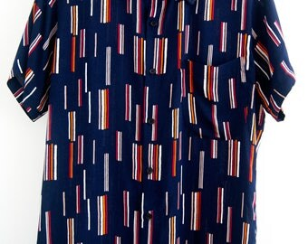 O'Carioca Striped Short Sleeve Button Up Shirt with a relaxed fit.