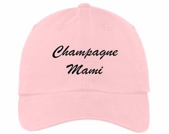 Champagne Mami Drake Dad Hat Pink