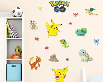 Pokemon Wall Stickers For Child S Or Kids Bedroom 17 Pieces Wall Sticker