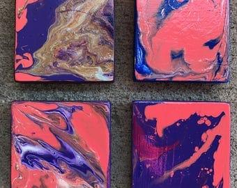 Hypnotizing Coasters 3.5x3.5x.75 (Set of 4)