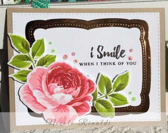 Friendship Greeting Card with Rose