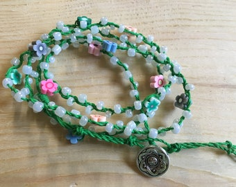 Flower Power Wrap Bracelet