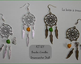 """SKULL DREAMCATCHER earrings"" DIY kit"