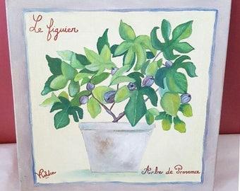 Original Oil Painting - Fig Tree