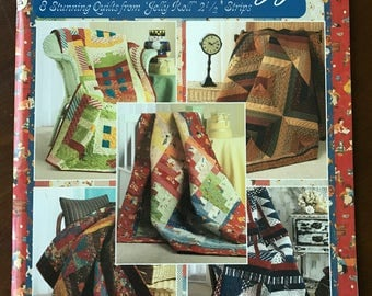 """Strip Crazy, 8 Stunning Quilts from Jelly Roll 2 1/2"""" Strips by Suzanne McNeil"""