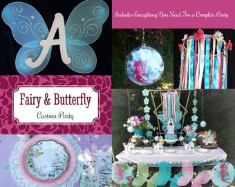 Fairy Birthday Party - Butterfly Birthday Party - Enchanted Birthday Party - Complete Party for 12 guests
