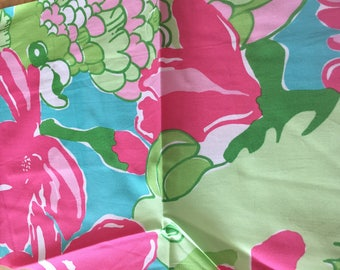 Lilly Pulitzer Exotic Birds & Flowers Printed Fabric