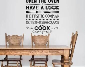 Kitchen quote wall sticker