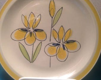 Set of 8 Quasar Iris stoneware dinner plates