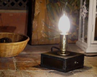 wooden lamp vintage