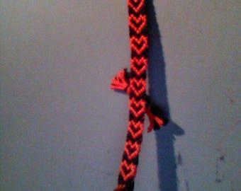 Vertical Heart Friendship Bracelet