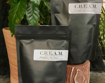 Locally sourced coffee scrubs with plants and eseential oils of plants, Skin care influenced by the fuel of coffee and Wu Tang.