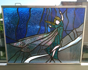Glass frame Frozen-Princess Elsa-window decoration