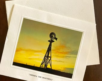 Bright of America Vintage Windmill Stationary