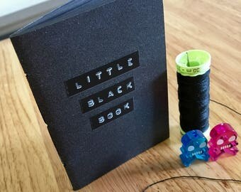 Little Black Book // A7 notebook with black pages