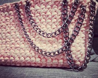 Clutch crochet handbag