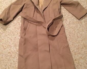 Vintage Camel wool trench coat