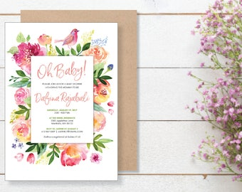Baby Shower Invitation. Instant Download. Printable Baby Shower Invitation. -03