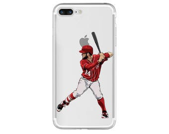 "The ""Hammer Time"" Baseball Phone Case, Hand-Drawn Baseball iPhone Case / Fits iPhone 5, iPhone 6, iPhone 7"
