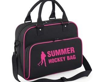 iLeisure Girls Personalised Hockey Figure Bag with Plain Print