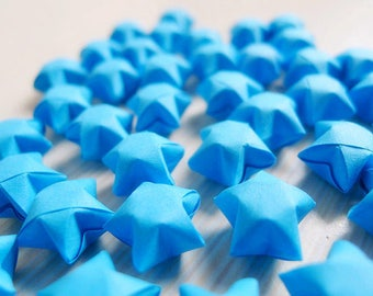 Origami Lucky Stars - Blue Wishing Stars,Party Supply,Table Decor,Embellishment,Gift Enclosure