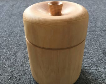 Tea Canister hand-turned from Douglas Fir