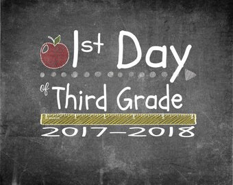 First & Last Day of 3rd Grade Print 10x8