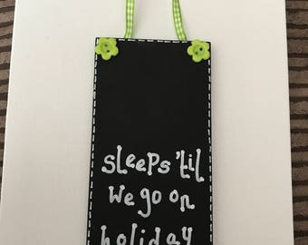 Holiday countdown plaque 15 x 7 cm