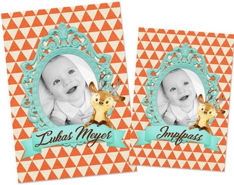 U magazine cover envelope with name and picture photo / deer