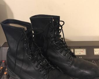 Vintage 1980s Leather Combat Boots