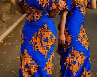 African gown, ankara off shoulder dress,  ankara print